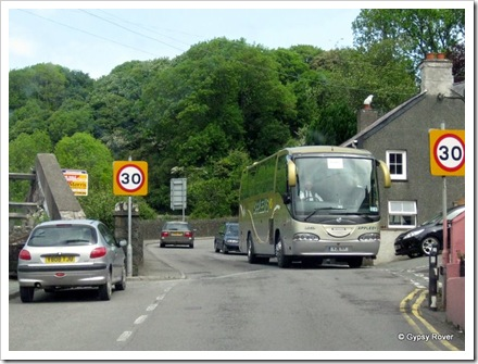This guy had to wait for us to exit the High St of Lower Town, Fishguard.