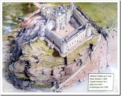 How Harlech castle may have looked in 1325.