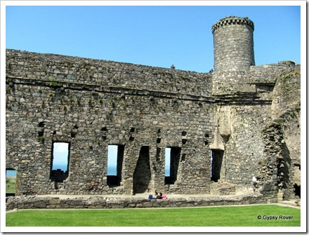 The Great Hall Harlech Castle.