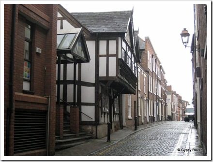 Chester's 19th century Tudor and cobbled streets.