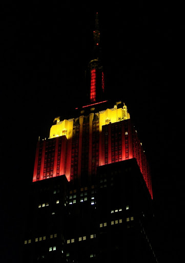 Empire State Building lights up for Spain's World Cup win