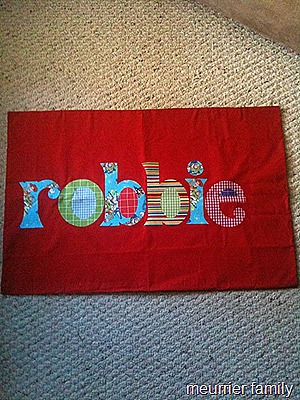 robbie pillowcase