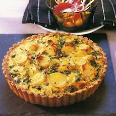Chillied Potato And Leek Quiche