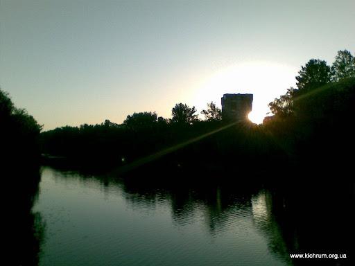 Рассвет на реке Псел в Сумах