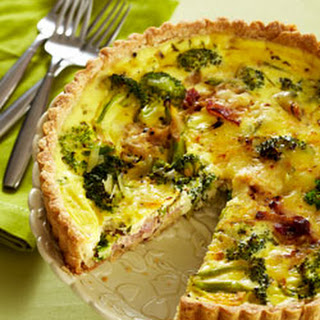 Sour Cream, Bacon and Broccoli Quiche