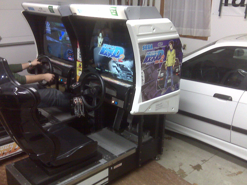 initial D V2 Arcade Sit Down Racing Cabinets ~ Twin Units!