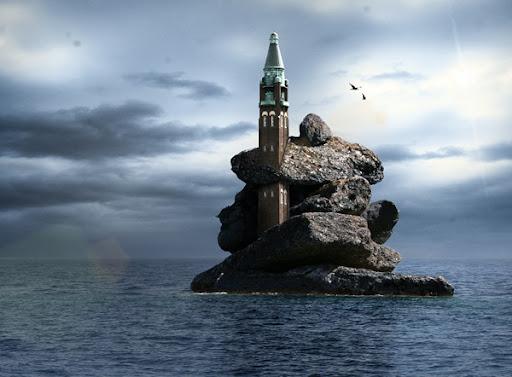 en ö av sten