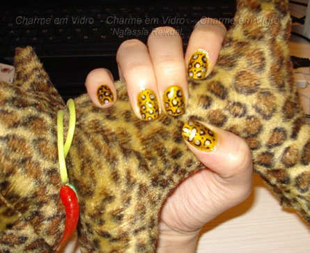 Nail art animal print - oncinha