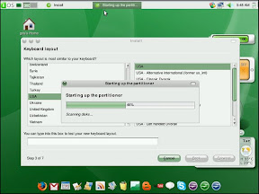 The partitioner is the same as used in ubuntu/mint so you wont be troubled with the process