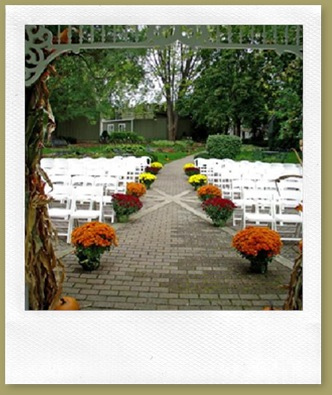 Wedding area in gazebo