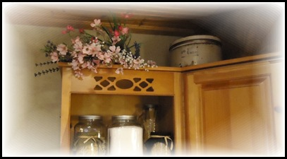 Pink on cupboard
