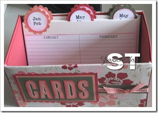 card organiser