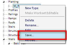 Saving Revit family