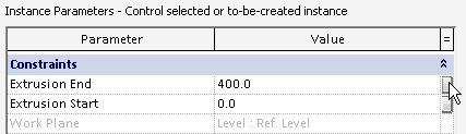extrusion parameter