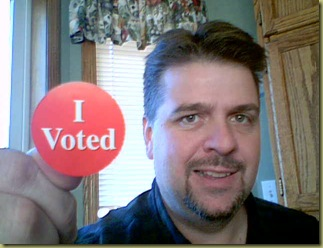 I voted on election day 2010!