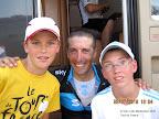 Florentin et Jordan avec Juan Antonio Flecha du Team Sky à Gueugnon