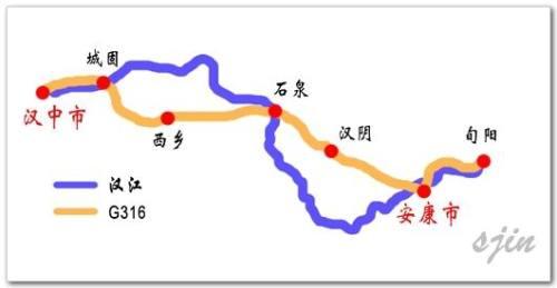 汉江寻春路线图
