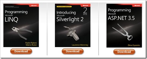 free-microsoft-press-ebooks-on-LINQ-SilverLight2-and-ASP.net-3.5