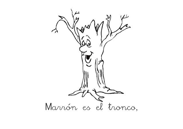 COLOR MARRON - DIBUJOS PARA COLOREAR EN MARRON