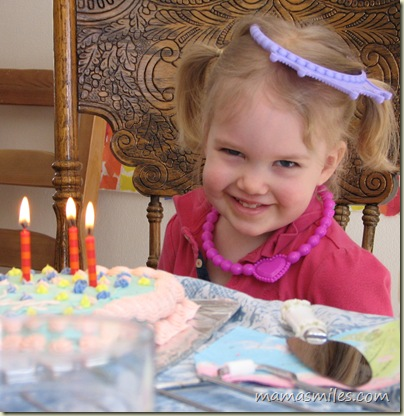 Birthday party for a three-year-old