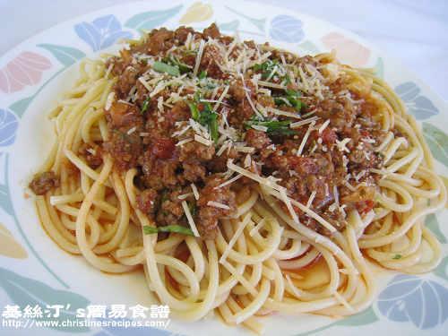 紅酒牛肉意大利粉 Spaghetti Bolognese