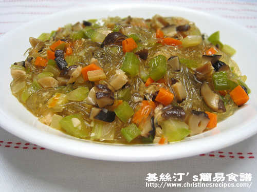 沒螞蟻的螞蟻上樹Stewed Vermicelli with Assorted Vegetable Dices