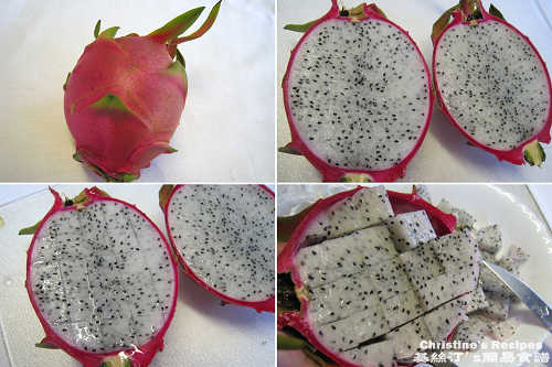 如何切火龍果 How To Cut Dragon Fruit