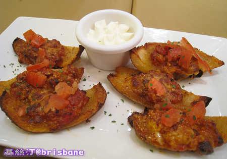 香茄焗薯皮 Bolognese Style Potato Skins