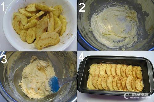 玉桂蘋果蛋糕製作圖 Apple Cinnamon Cake Procedures