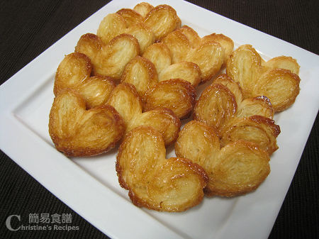 Palmiers Recipe | Christine's Recipes: Easy Chinese Recipes ...