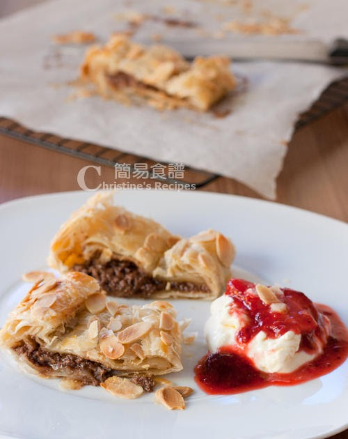 Ricotta Chocolate Pastry with Strawberry Compote | Christine's Recipes ...