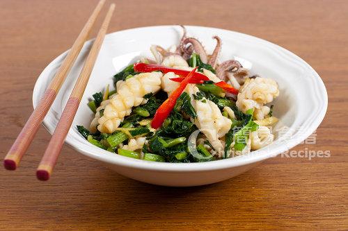 雪菜炒鮮魷 Stir-fried Squid with Salted Vegetable02