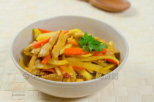 黃薑炒薯條雞絲 Pan-fried Turmeric Chicken and Potato02