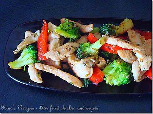Chicken and Vegies stir fry 1