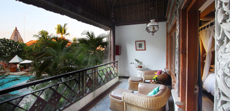 The Ramayana Hotel Poolside cottage