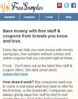 Screenshot of Yo Free Samples Android App