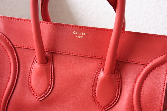 celine luggage red