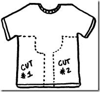 t-shirt cutout