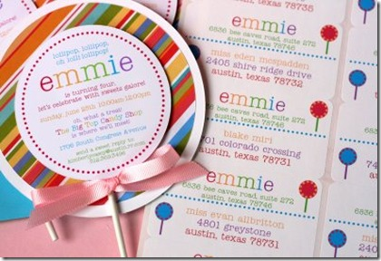 emmie invite and labels