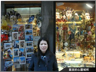 義大利威尼斯聖馬可廣場內的面具專賣店