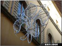 佛羅倫斯的市徽-LED燈製做的百合圖騰