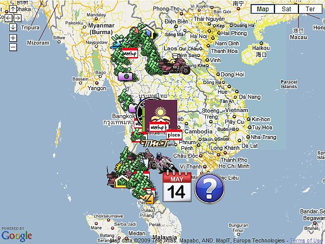 Google Online SE Asia Motorcycle Tourist Maps Asia Riding – Thailand Tourist Map