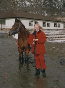 bente assu95.jpg: Bente og Assu, Sprangstevne 1. April 1995