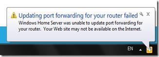 home server upnp fail