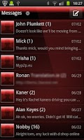 Screenshot of GO SMS PRO THEME Deep Red