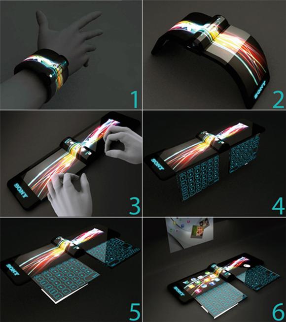 Amazing Futuristic Sony Concept Computer Bracelet 2011