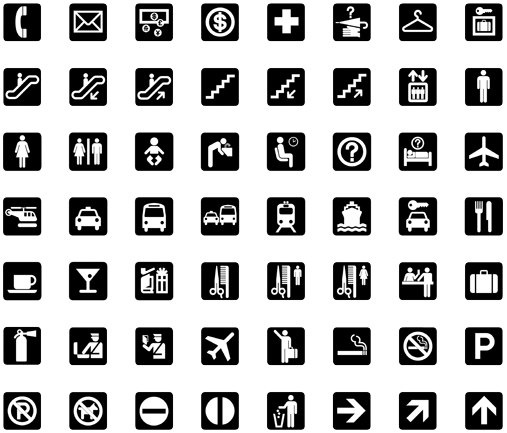 Best Simple Small and Mono Icon Set Vector 2011