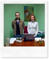 Alberto López Rivera, concejal de Juventud, y María del Carmen de Gregorio, técnico del Punto de Información Juvenil.