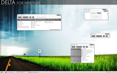 Delta_,windows style xp theme download,xp佈景主題vista,visual styles,xp佈景主題教學下載,桌面改造,桌面美化,破解xp佈景主題限制