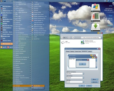 BlueMesa,windows,vista,themes download,visual styles,xp佈景主題教學下載,桌面改造